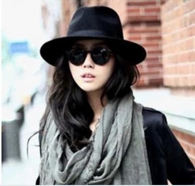 2014-New-Fashion-Cap-Casual-Fedora-Hat-Men-Women-Wool-Sun-Hat-beach-unisex-black-hat