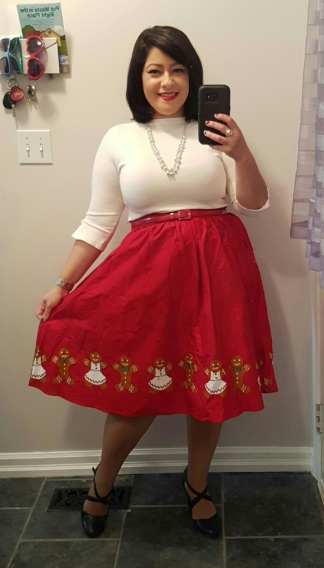 Banned sweater and Modcloth skirt